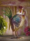 Funky Rooster Shaped Fan