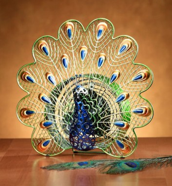 Funky Peacock Shaped Fan