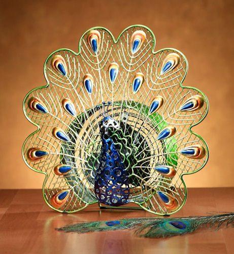 Funky Peacock Shaped Fan