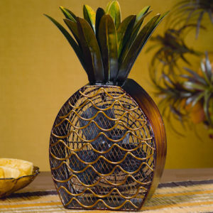 Unique Mosaic Pineapple Table Fan
