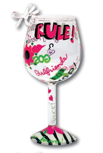 Girlfriends Rule Mini-Wine Ornament