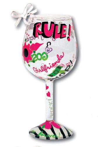 Girlfriends Rule Mini-Wine Ornament