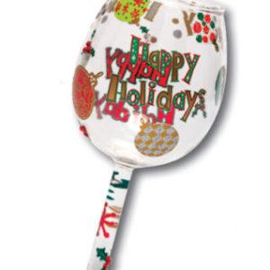 Happy Holiday Mini-Wine Christmas Ornament