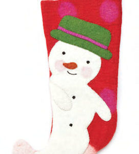 Red Felt Snowman Christmas Stocking