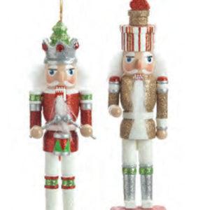 Red & Gold Nutcracker Christmas Ornaments