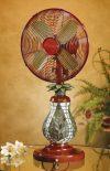 Unique Mosaic Fern Table Fan