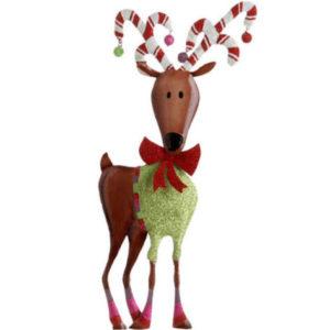 Large Metal Reindeer Ornament