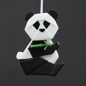 Panda Origami Christmas Ornament