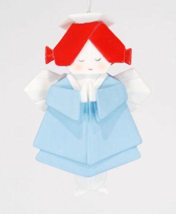 Angel Origami Christmas Ornament