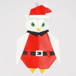 Owl Origami Christmas Ornament