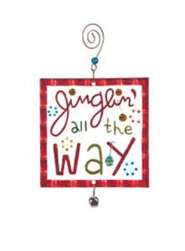 Glass Jinglin' All The Way Ornament