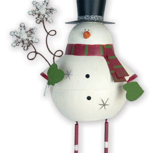 Dangling Legs Snowman Ornament