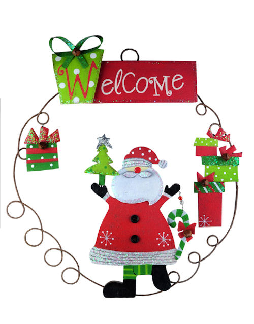Santa Wreath Door Decoration