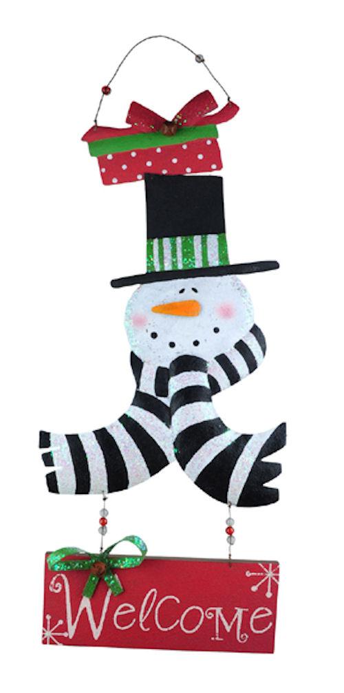 Welcome Snowman Door Decoration