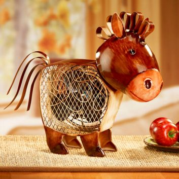 Funky Country Horse Shaped Fan