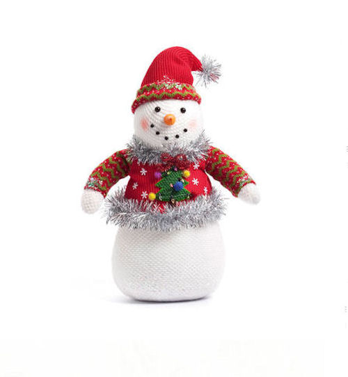 Ugly Sweater Snowman Table Decoration