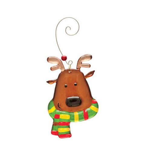Glass Reindeer Ornament