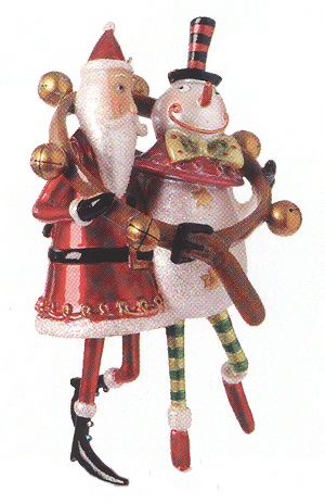 Santa & Snowman Friends Ornament