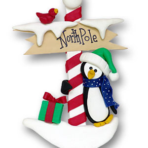 North Pole Penguin Ornament