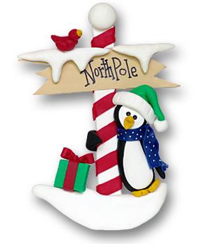 North Pole Penguin Ornament