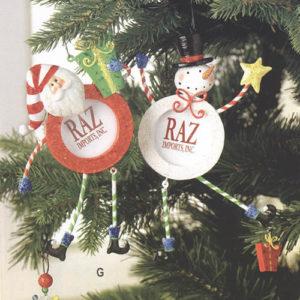 Santa Frame Ornament