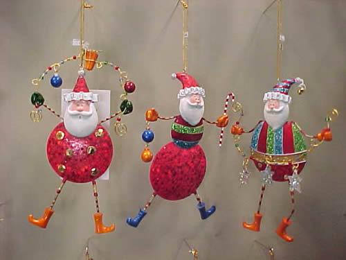 Tin Santa With Dangling Feet