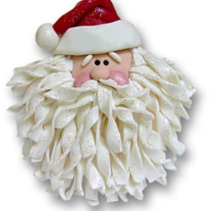 Santa With Noodle Beard Ornament
