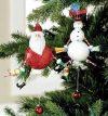 Jumping Jack Snowman Ornament