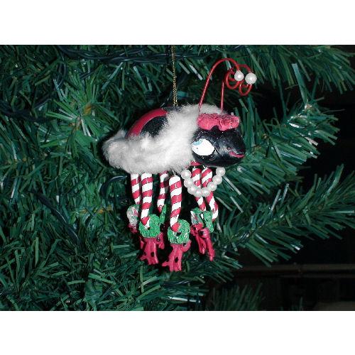Lady Bug Christmas Ornament