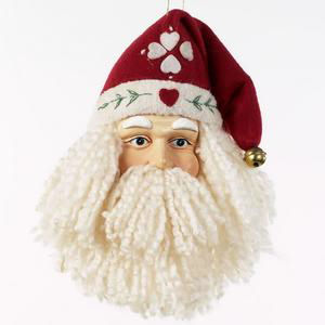 Yarn Beard Santa Christmas Ornament