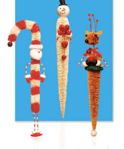 Sisal Icicle Christmas Ornaments