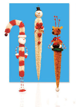 Sisal Icicle Christmas Ornaments