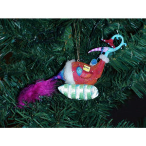 Peacock-Petunia Christmas Ornament