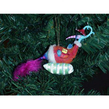 Peacock-Petunia Christmas Ornament