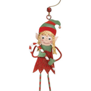 Elf Girl Christmas Ornament