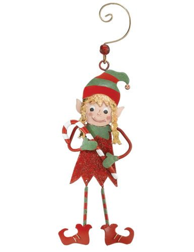Elf Girl Christmas Ornament