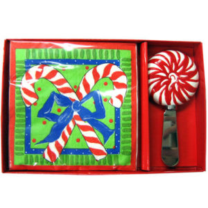 Candy Cane Napkin and Spreader