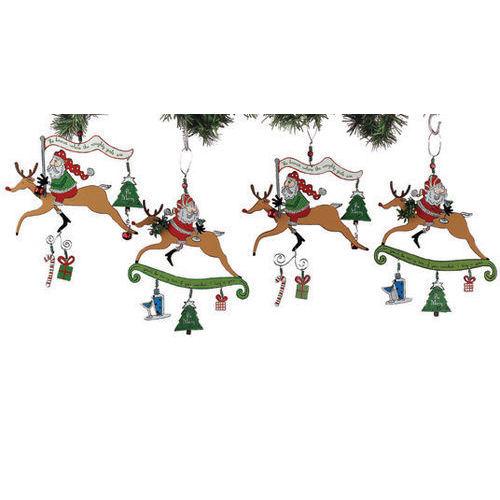 Happy Hour Santa Ornaments