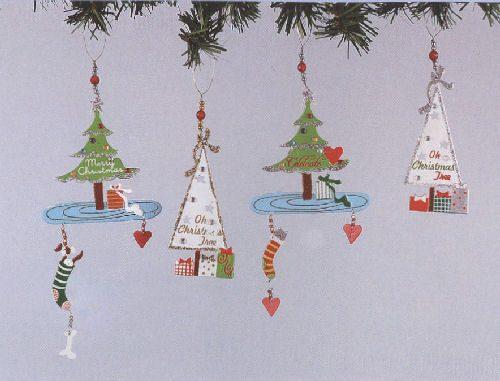 Metal Glitter Trees Ornament