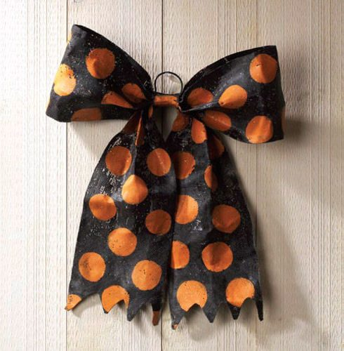 Halloween Bow Door Decoration