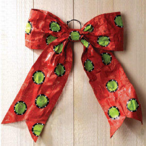 Red Christmas Bow Door Decoration