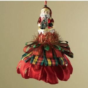 Santa Tassel Ornament
