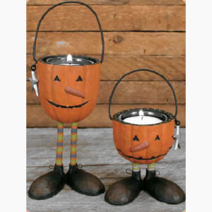 Pumpkin Head Tea Light
