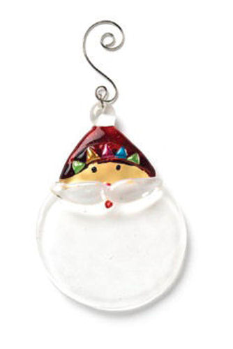 Glass Santa Christmas Ornament