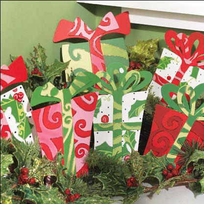 Funky Present Christmas Ornaments