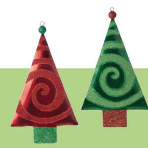 Swirl Tree Christmas Ornament