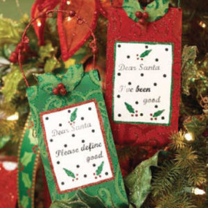 Holly Swirl Message Ornament