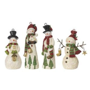 Winter Snowmen Christmas Ornament