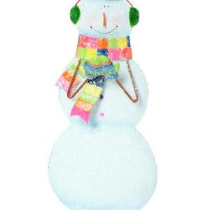 Flat Snowman Ornament