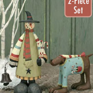 Snowman and Dog Christmas Decoration